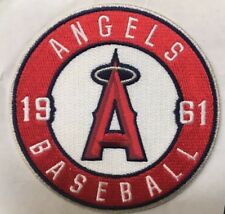 "Los Angeles Angels Of Anaheim 1961 Round Sleeve Jersey Patch Baseball MLB 4"" dia"