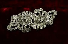 ART DECO BROOCH MARCASITE  CLIP FOR DRESS AND OR SHOES MULTI PURPOSES IMPECCABLE