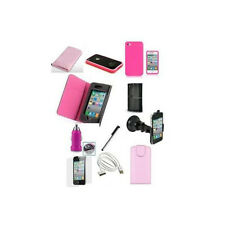 PINK 10 X ACCESSORY PREMIUM BUNDLE KIT FOR IPHONE 4 4S Mobile & PDA Acc.