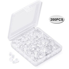 200Pcs Replacement DIY Soft Clear Silicone Earring Safety Backs Clutch Stopper U