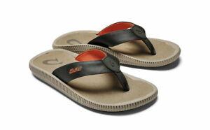 Olukai Ulele Kai Mens Beach Sandals Flip Flops - Island Salt/Clay - Choose Size