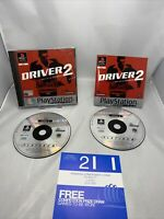 Driver 2 - PS1 (Sony Playstation 1)  (PAL) Platinum Game Complete With Manual