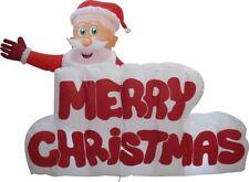 XXL LED WEIHNACHTSMANN+MERRY CHRISTMAS SCHRIFTZUG~AUFBLASBAR~AIRBLOWN~INFLATABLE