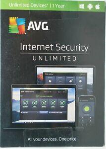 AVG® Internet Security Unlimited Software Brand New