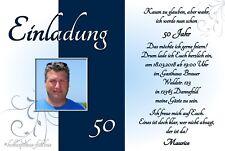 20 Einladungskarten Geburtstag Einladungen mit Foto jedes Alter: 30 40 50 60 70