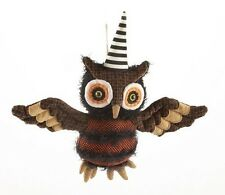 "NWT Music & MOTION  13"" Scary Witch OWL  Animated Figurine HALLOWEEN Decor #A"