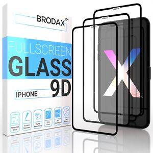 9D Glas iPhone X Xs Xr 11 11 Pro Max Panzerfolie Schutzglas Schutzfolie Full 9h