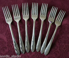 VALERIE - Silverplate Oneida Wm.A.Rogers  set of 7 DINNER FORKS