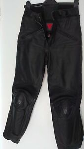 Ladies Dainese leather motorbike trousers Black size 44 UK 12 Motorcycle Gear 99