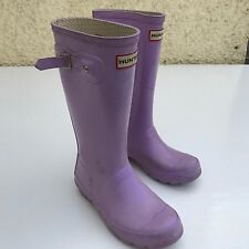 L@@K HUNTER KIDS GIRLS PINK WELLIES WELLINGTON BOOTS UK 1 EU 33