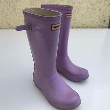 L@@K HUNTER KIDS GIRLS PINK WELLIES WELLINGTON BOOTS UK 1 EU 33