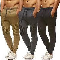 Mens Elasticated Chino Slacks Joggers Work Slim Fit Casual Sport Khakis Pants