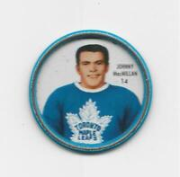 1962-63 SHIRRIFF METAL COIN JOHNNY MACMILLAN Toronto Maple Leafs