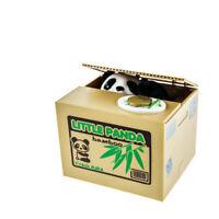 Elektrische Spardose mit Panda, Süße Sparbüchse mit Pandafigur, Sparschwein