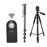 "Pro 60"" Tripod & 72"" Monopod + Wireless Remote For Nikon D5200 D5300 D7000 D7100"