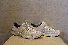 Womens DANSKO Elise White Lace-up Sneakers/Shoes EU 41/9.5-10 Nursing Non-Slip