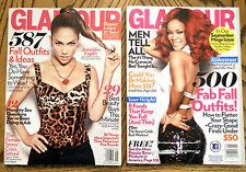 GLAMOUR Magazine MEGA Issue LOT Sep 2010 & 2011 Rihanna & Jennifer Lopez J Lo