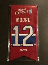 DICKIE MOORE #12 MONTREAL CANADIENS MINI BANNER RETIREMENT JERSEY AUTHENTIC ITEM