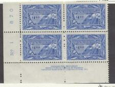 CANADA # 302 VF-MNH PLATE BLOCK OF $1 FISHERIES (Tiny Gum Sheen) CAT VALUE $300