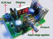 LM317 Adjustable Voltage Regulator Step-down Power Supply Module + LED Meter