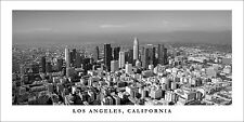 Poster Panorama Los Angeles California Panoramic Print Black & White Photo