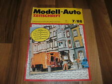 MODELL-AUTO 7/1988-- HO Miniaturen / KRUPP und BÜSSING KOFFERZÜGE / Zirkus Krone