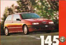 Alfa Romeo 145 1994 UK Market Launch Mailer Foldout Brochure 1.6 L 1.7 16v
