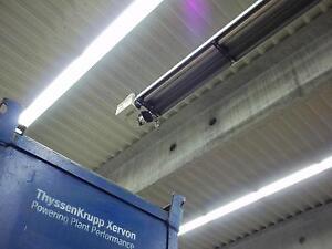 Werkstattheizung Hallenheizung Dunkelstrahler KFZ Halle, mit Gehäuseisolierung