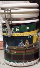 SALE~Starbucks Large Canister Nighthawks Hopper D. Burrows Chaleur Collector