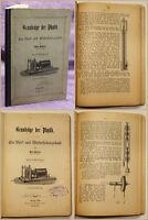 Hübner Grundzüge der Physik 1902 Schule Wissen Fachwissen Studium Lernen sf