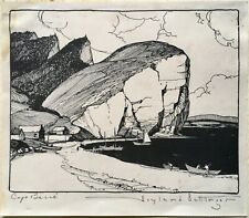 Rare Hoyland B. Bettinger Original Signed Pen Ink Drawing Coastal Nautical Ocean