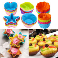 Silicone Cake Muffin Cup Cupcake Egg Tart Case Baking Moulds Pan Nonstick Liner