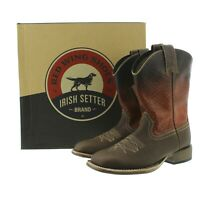 Red Wing 4824 Irish Setter Mens Deadwood Western Burnt Orange Brown Leather Boot