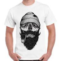 Beard Skull Bone Sailor Pirate Cool Gift Retro T Shirt 2370