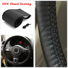 Universal 15inch Car Steering Wheel Cover With Needles and Thread DIY Decoration