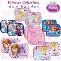 Pack 2 Disney Car Window Sun Shades Princess Collection Baby Girl Kids Children