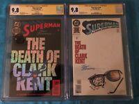 Superman #100 Foil and Reg set - DC - CGC SS 9.8 NM/MT -Signed by Brett Breeding