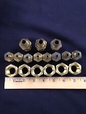 """Lot Of (19) -Solid Brass Air Fittings 1"""" & 3/4"""" Npt"""