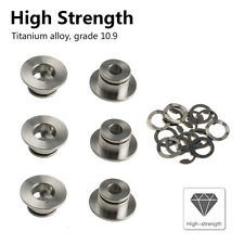 6PCS Motorcycle Bobbins Rivets w/ E-clips Floating Washers Fit Brembo Brake Disc