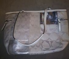 Coach Signature Holiday Patchwork Silver L0873-13498 *DAMAGED/ PARTS