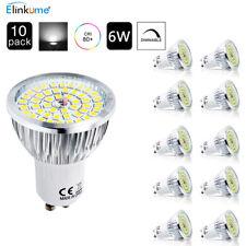 10x GU10 LED Energiespar Lampen Dimmbar 6w Leuchtmittel Spot Strahler Kaltweiss