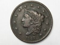 XF 1837 US Coronet Head Large Cent Coin.  #72