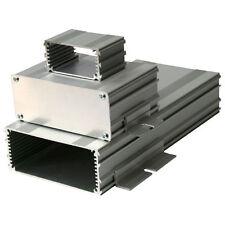 Plata Aluminio Extruido Gabinete frpcb 100x220mm 220x109x45 Funda Caja proyecto