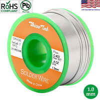 Lead Free Solder Wire Sn99.3 Cu0.7 with Rosin Core for Electronic 3.5oz 1.0mm