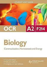 Biology Communication, Homeostasis and Energy: Ocr A2 Unit F214-ExLibrary