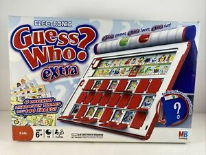 Electronic Guess Who? Extra - Milton Bradley Tested, Works, Clean, Complete EUC