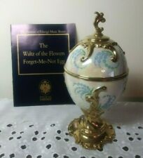 New listing The Franklin Mint House Of Faberge Forget Me Not Musical Egg Waltz of the Flower