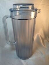 Tupperware Acrylic Pitcher with Lid #2003A-2 Clear Blue 2 QT