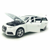 1:32 Scale Audi A4 Model Car Metal Diecast Gift Toy Vehicle Kids White Light