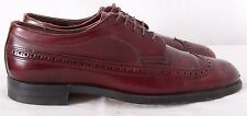 Hawthorne Classics Supreme Rare Wing Tip Red Dress Formal Oxfords Men's US 9AA